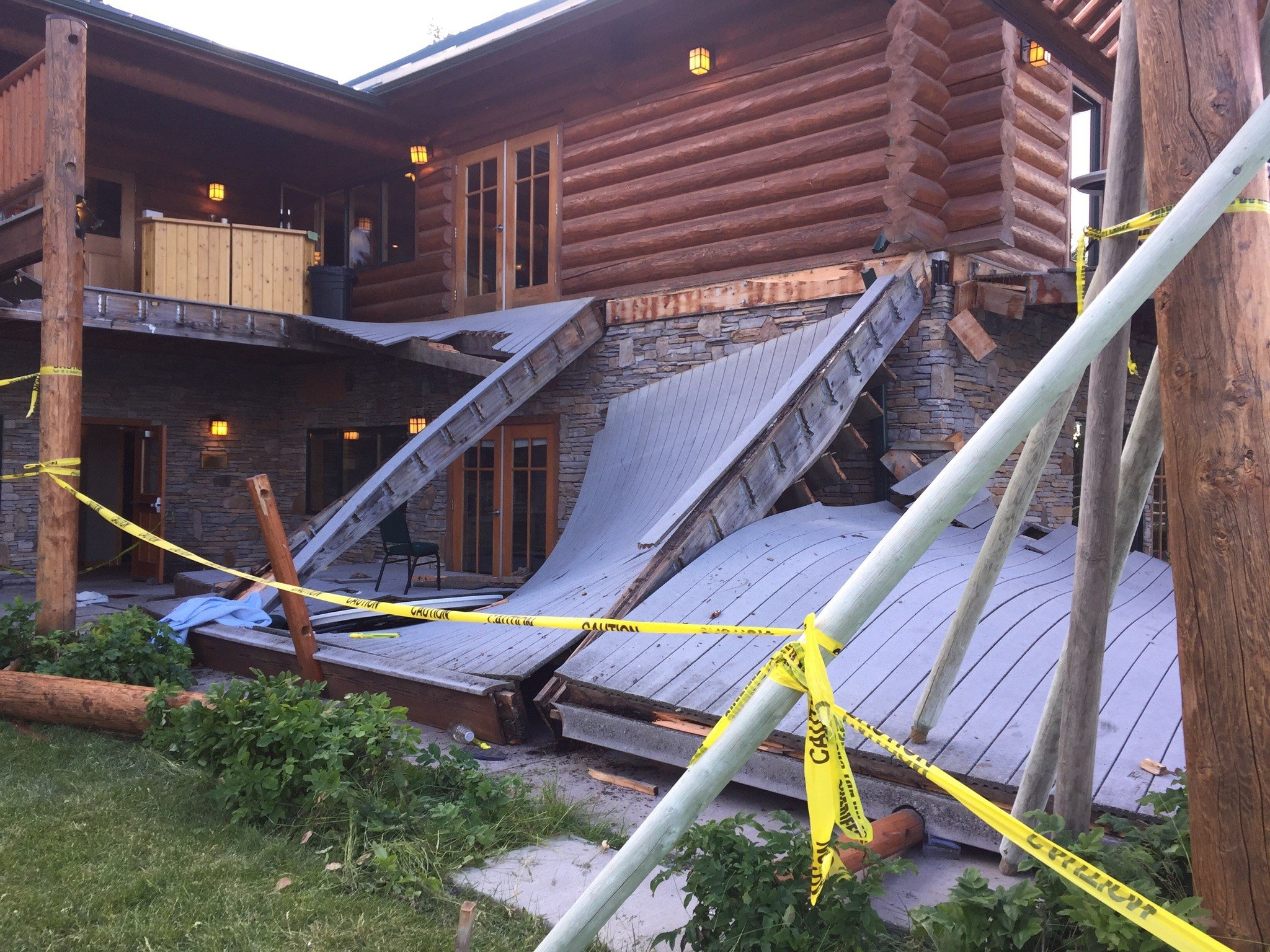 Authorities say 32 injured in deck collapse