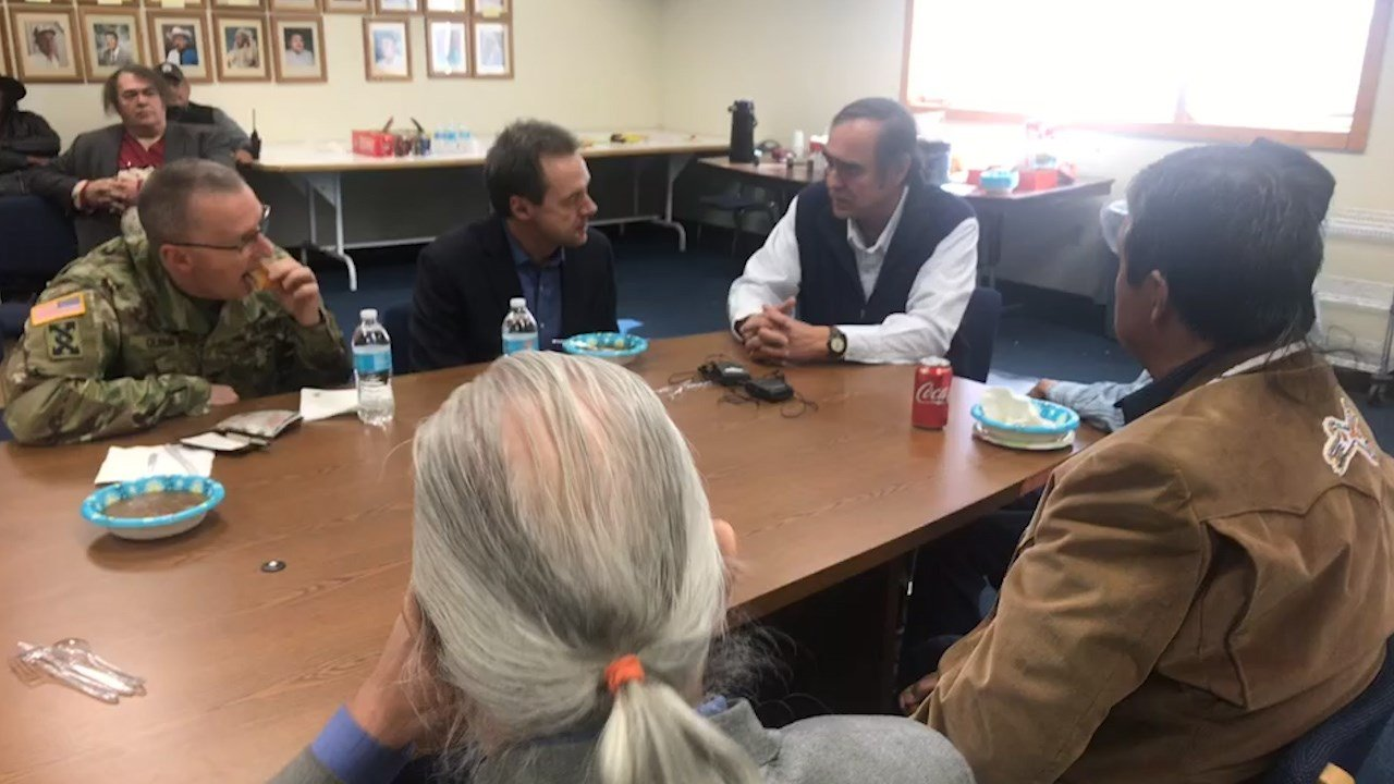 Bullock meets with Tribal Council