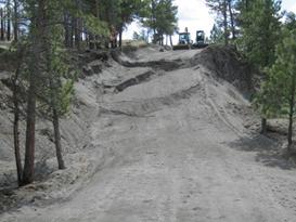 Landslide caused road closure