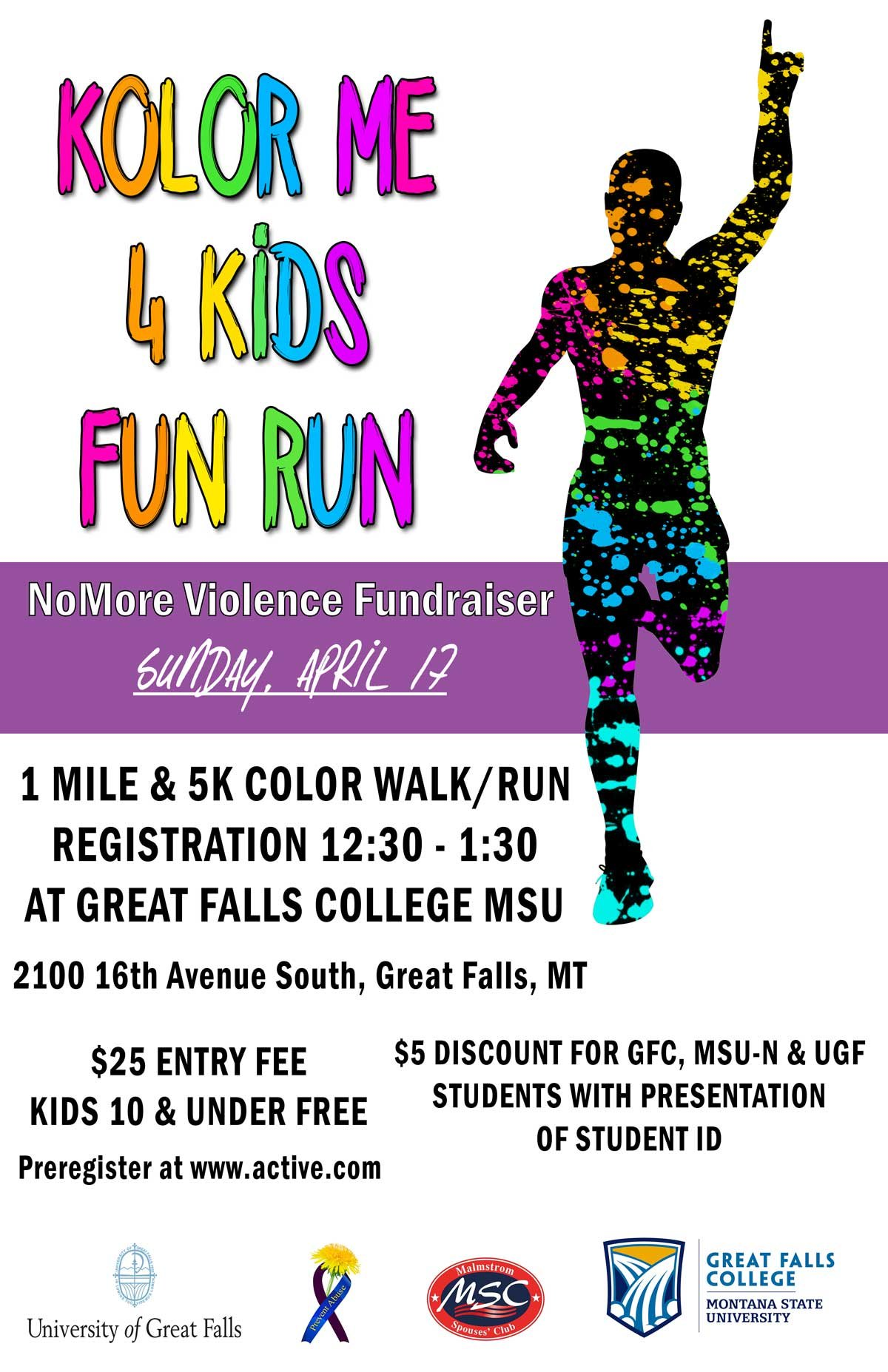 kolor me 4 kids fun run kfbb com news sports and weather