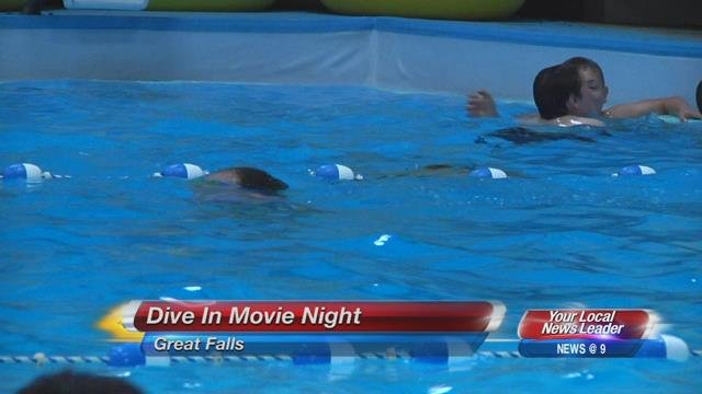 First ever 39 dive in 39 movie night held in great falls - Swimming pools in great falls montana ...