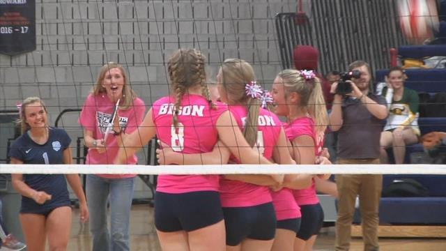 Bison Volleyball Gets Revenge Against Cmr Wins Second
