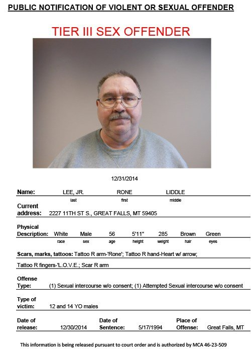 Sex offender in montana